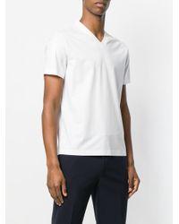Prada - White Classic V-neck T-shirt for Men - Lyst