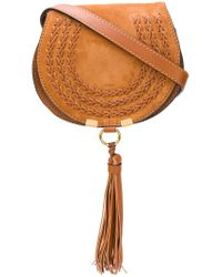 Chloé - Brown Mini Marcie Tassel Bag - Lyst