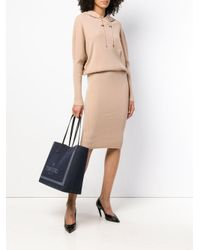 Tom Ford - Natural Hooded Knit Dress - Lyst