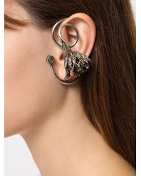 Midgard Paris - Metallic Thistle Wrap Earrings - Lyst