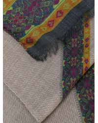 Etro - Brown Paisley Print Scarf for Men - Lyst