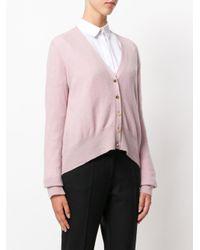 Dondup - Pink Cardigan Corto Sul Davanti - Lyst