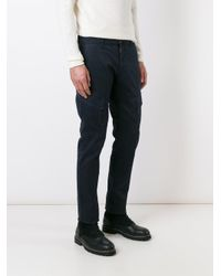 Stone Island - Blue Cargo Pocket Trousers for Men - Lyst