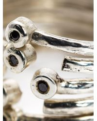 Henson - Metallic Multiband Ring - Lyst