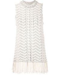 Proenza Schouler | White Fringed Tank Top | Lyst