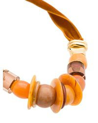 Lizzie Fortunato - Brown Collana 'amber Savanna' Con Pietre - Lyst