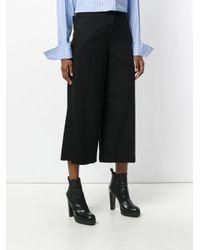 Juun.J - Black Cropped Wide Leg Trousers - Lyst