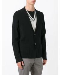 Lanvin | Black Blazer Design Cardigan for Men | Lyst
