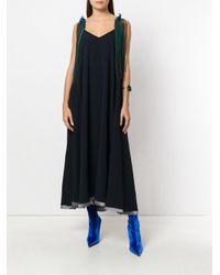 Toga Pulla - Blue V-neck Flared Dress - Lyst