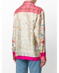 Pierre Louis Mascia - Multicolor Floral Embroidered Blouse - Lyst