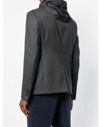 Prada - Black Gabardine Blazer Jacket for Men - Lyst