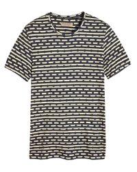 Burberry - Blue Spot And Stripe Print T-shirt for Men - Lyst