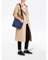 Burberry - Blue Medium London Messenger Bag for Men - Lyst