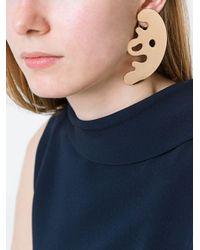 Eshvi - Metallic 'lava' Clip-on Earrings - Lyst