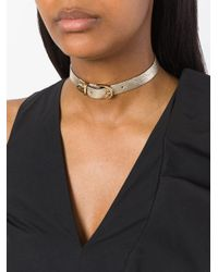 Manokhi - Metallic Buckled Necklace - Lyst