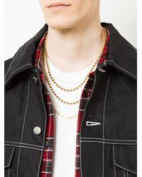 Ambush - Metallic Triple Ball Chain Necklace for Men - Lyst