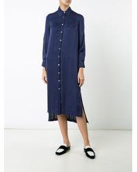 Raquel Allegra - Blue Midi Shirt Dress - Lyst
