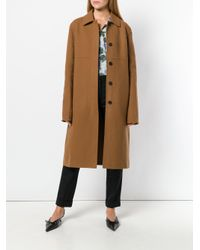 Jil Sander - Brown Relaxed Coat - Lyst