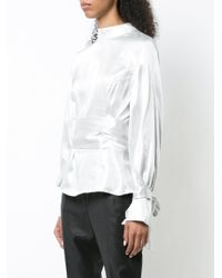 Rodebjer - Metallic Bow Back Blouse - Lyst