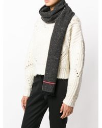 Bally - Gray Striped Detail Scarf for Men - Lyst