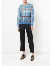 Toga Pulla - Blue Checked Jumper - Lyst