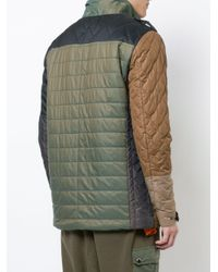Mostly Heard Rarely Seen - Green Colour Block Multi-pattern Coat for Men - Lyst