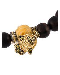 Loree Rodkin - Black Bead Diamond Hamsa Bracelet - Lyst