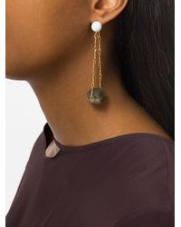 Marni - Metallic Cube Drop Earrings - Lyst