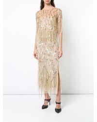 Oscar de la Renta - Metallic Fringed Sequined Gown - Lyst