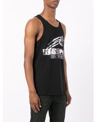 Philipp Plein - Black Logo Print Vest for Men - Lyst