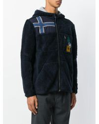 Napapijri - Blue Zipped Fleece Hoody for Men - Lyst