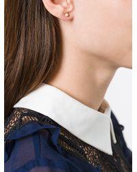 Carolina Bucci - Metallic Small 'florentine' Studs Earrings - Lyst