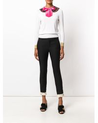 Gucci - White Knit Top With Detachable Collar - Lyst