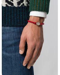 Eleventy - Red Beads Charm Bracelet for Men - Lyst