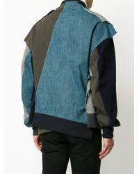 Moohong - Gray Asymmetric Bomber Jacket for Men - Lyst