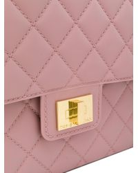 Designinverso - Pink Quilted Shoulder Bag - Lyst