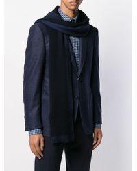 Écharpe à plaque logo Ermenegildo Zegna pour homme en coloris Blue