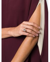 Rosa Maria - Metallic Open Front Ring - Lyst