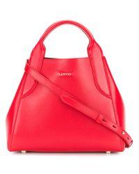 Lanvin - Red Mini Cabas Bag - Lyst