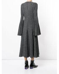 Ellery - Gray Conrad Godet Dress - Lyst