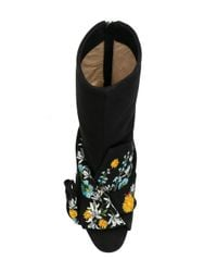 N°21 - Black Embroidered Ankle Length Boots - Lyst