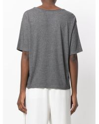 Theory - Gray Oversized T-shirt - Lyst