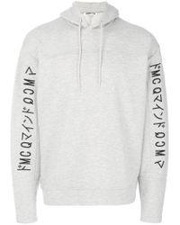 McQ Alexander McQueen - Gray Embroidered Logo Hoodie for Men - Lyst