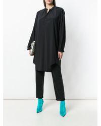 A.F.Vandevorst Black Oversized Mandarin Collar Shirt