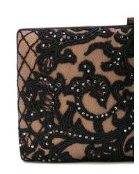 Tadashi Shoji Black Lace Clutch