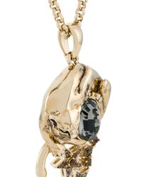 Roberto Cavalli - Metallic Panther And Stars Pendant Necklace - Lyst