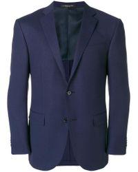 Corneliani - Blue Classic Button Blazer for Men - Lyst