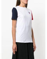 Être Cécile - White Contrast Sleeve T-shirt - Lyst