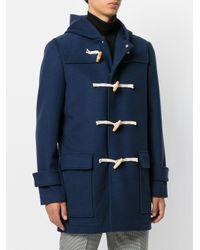 MSGM - Blue Classic Duffle Coat for Men - Lyst