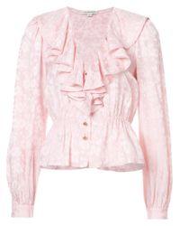 Jill Stuart - Pink Sara Frilled Blouse - Lyst